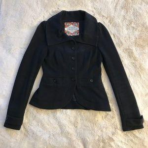 Free People Black Button Up Coat - Boho